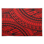 Tribal Aztec Art Red Black Placemats