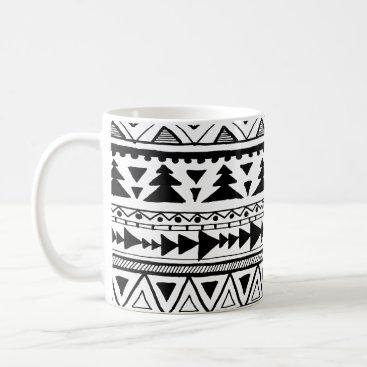 Aztec Themed Tribal aztec boho style organic doodle pattern mug