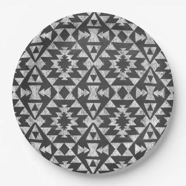 Aztec Themed Tribal Aztec Chalkboard Paper Plate