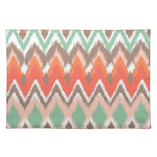 Tribal aztec chevron zig zag stripes chic pattern cloth placemat