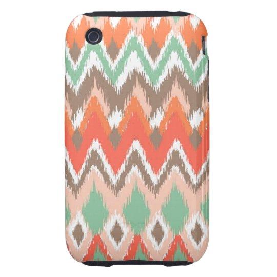 Tribal aztec chevron zig zag stripes chic pattern iPhone 3 tough cover