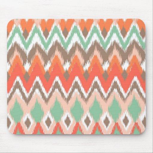 Tribal aztec chevron zig zag stripes chic pattern mousepad