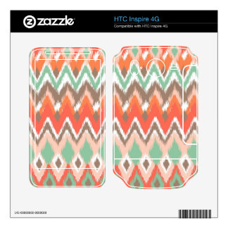 Tribal aztec chevron zig zag stripes chic pattern skin for HTC inspire 4G