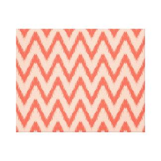 Tribal aztec chevron zig zag stripes ikat pattern canvas print