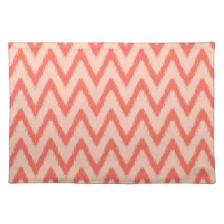 Tribal aztec chevron zig zag stripes ikat pattern cloth placemat