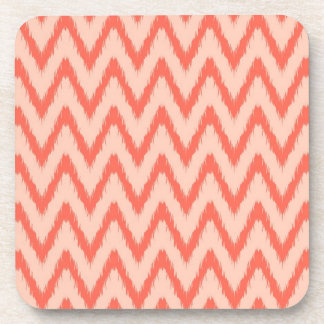 Tribal aztec chevron zig zag stripes ikat pattern drink coaster