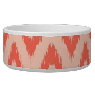 Tribal aztec chevron zig zag stripes ikat pattern pet bowls