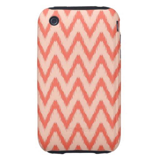 Tribal aztec chevron zig zag stripes ikat pattern tough iPhone 3 cases
