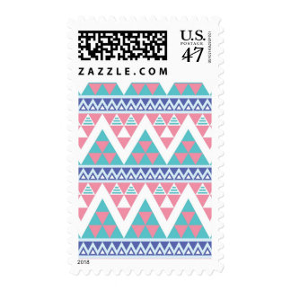 Tribal aztec colorful pattern postage