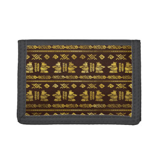 Tribal Aztec Ethnic  Pattern Trifold Wallet