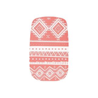 Tribal Aztec Lace Pattern Minx coral) Minx® Nail Wraps