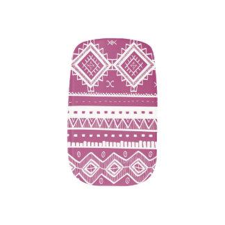 Tribal Aztec Lace Pattern Minx fuchsia) Minx® Nail Art