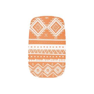 Tribal Aztec Lace Pattern Minx orange) Minx® Nail Wraps