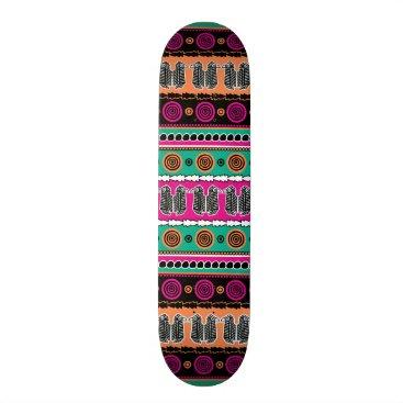 Tribal Aztec Moroccan Striped Skateboard