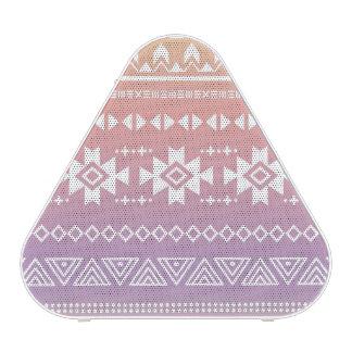 Tribal aztec ombre pattern bluetooth speaker