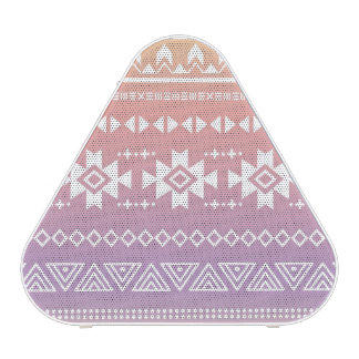 Tribal aztec ombre pattern bluetooth speaker
