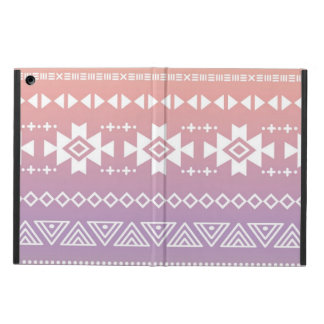 Tribal aztec ombre pattern iPad air cover