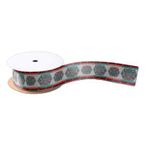 Tribal Aztec Pattern Satin Ribbon