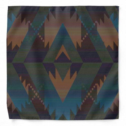 Tribal Aztec Pattern Southwest Design Bandanna