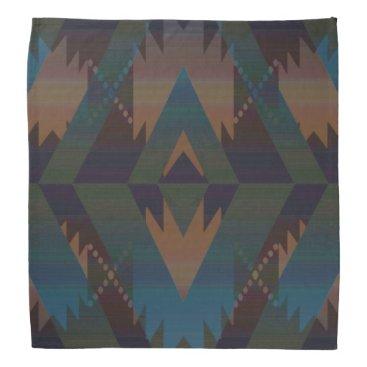 Aztec Themed Tribal Aztec Pattern Southwest Design Bandanna