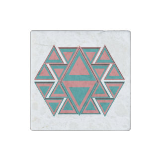 Tribal Aztec Pattern Stone Marble Magnets 2x2 Stone Magnet