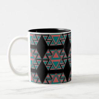 Tribal Aztec Pattern Two-Tone Coffee Mug