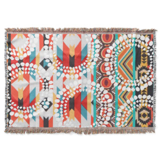 Tribal Aztec Throw Blanket