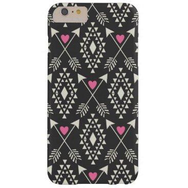 Aztec Themed Tribal Aztec w/ Hearts & Arrows iPhone 6 Plus Case