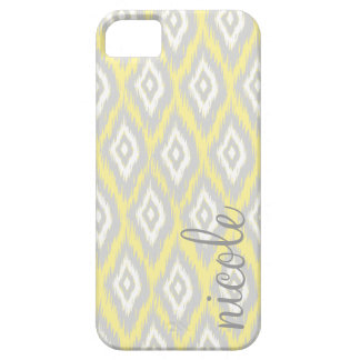 Tribal Aztec Yellow & Grey Modern Personalized iPhone 5 Case