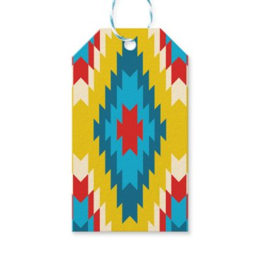 Aztec Themed tribal Aztec Yellow Red Blue Gift Tags