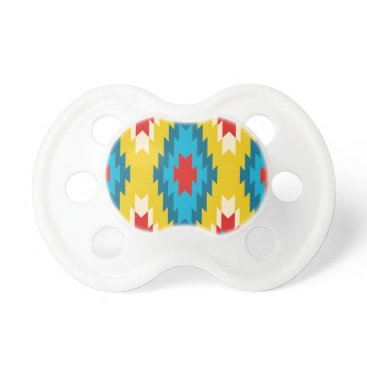 Aztec Themed tribal Aztec Yellow Red Blue Pacifier