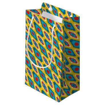 Aztec Themed tribal Aztec Yellow Red Blue Small Gift Bag