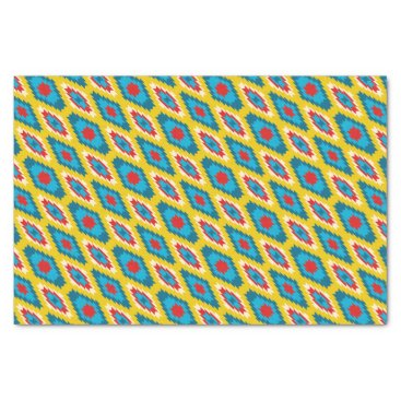 Aztec Themed tribal Aztec Yellow Red Blue Tissue Paper
