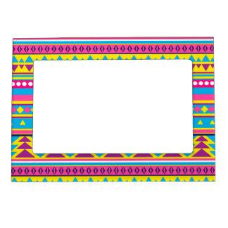 Tribal azteca en colores vivos marcos magneticos