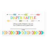 Tribal baby shower diaper raffle tickets / games business card