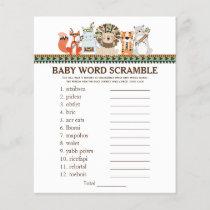 Tribal Baby Shower Games Word Scramble Rhyme Quiz