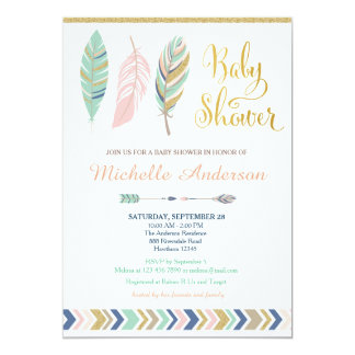 Tribal Baby Shower Invitation Boho