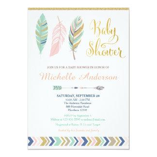 Tribal Baby Shower Invitation / Boho Baby Shower