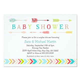 Tribal Baby Shower invites neutral gender