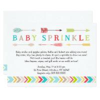 Tribal Baby Sprinkle neutral gender shower invites