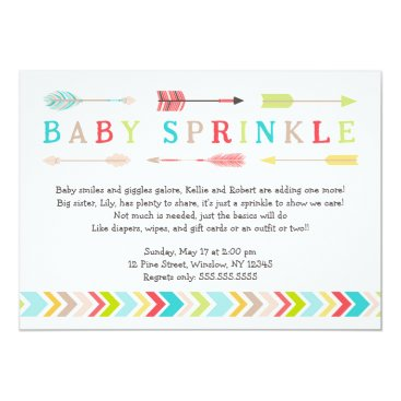 lemontreecards Tribal Baby Sprinkle neutral gender shower invites