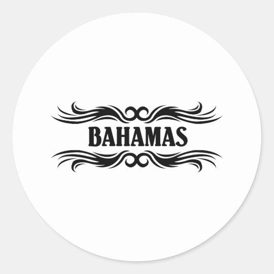 Tribal Bahamas Classic Round Sticker