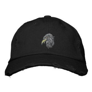 tribal bald eagle embroidered baseball cap
