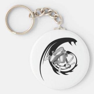 Tribal Ballet Basic Round Button Keychain