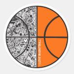 Tribal Basketball Stickers