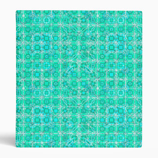 Tribal Batik - aqua and turquoise with white 3 Ring Binder