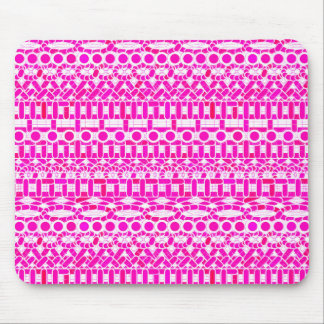 Tribal Batik - fuchsia, magenta, orchid and white Mousepads