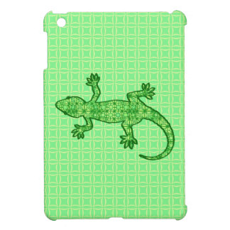 Tribal batik Gecko - lime and emerald green Cover For The iPad Mini