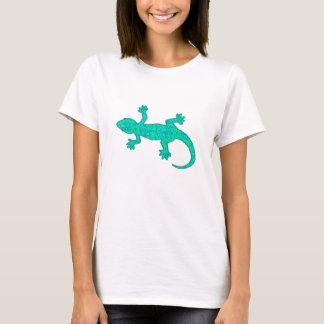 Tribal batik Gecko - turquoise / peacock T-Shirt