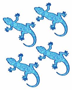 d4cac595b Tribal batik Gekko - soft denim blue Temporary Tattoos